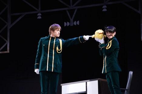 ミュージカル「青春-AOHARU-鉄道」公開稽古の様子。