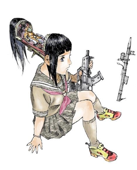 松本次郎「女子攻兵」カット