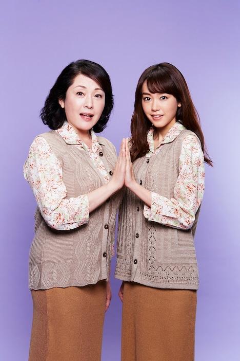 松坂慶子扮する如月澄(左)と、桐谷美玲扮する如月すみれ。