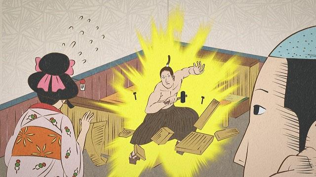 アニメ「磯部磯兵衛物語」の新規場面写真。(c)仲間りょう/集英社・磯豆奉行所