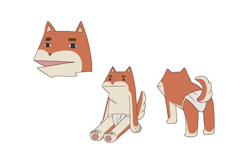 お犬さまの設定画。(c)仲間りょう/集英社・磯豆奉行所
