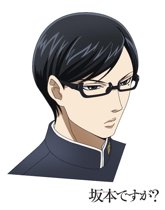 テレビアニメ「坂本ですが?」より、主人公・坂本の設定画。