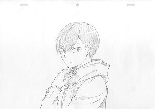 キャラクターデザイン・草間英興が描いた主人公・原田巧(CV:内山昂輝)。