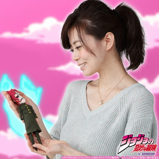 「ジョジョの奇妙な冒険 魂を抜かれた花京院典明人形 マスコットポーチ」