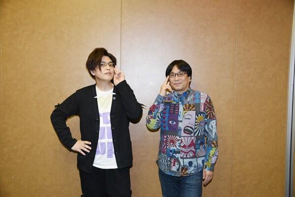 (左から)緑川光、高松信司。