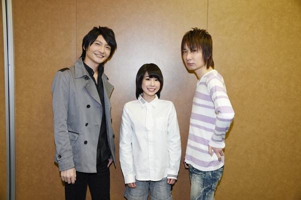 (左から)島崎信長、藤原夏海、前野智昭。