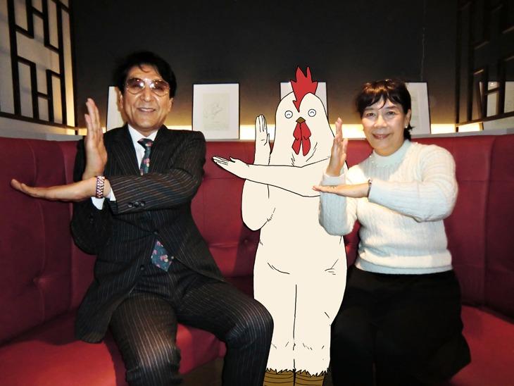 (左から)古谷敏、丹羽庭、桜井浩子。