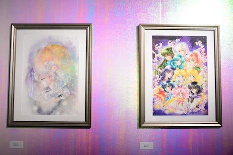 武内直子が本展のために描き下ろした原画2点。