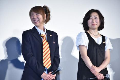 (左から)高山みなみ、山崎和佳奈。