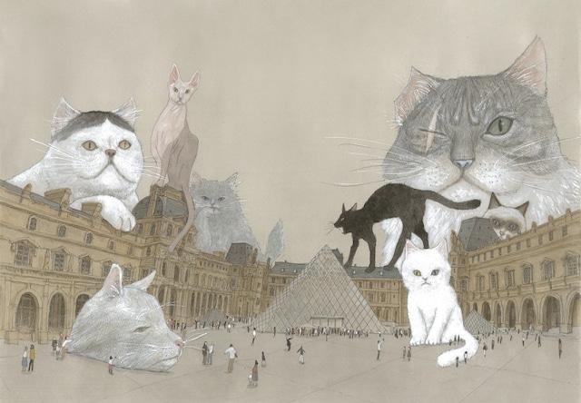 松本大洋「ルーヴルの猫」/ ビッグコミックオリジナル