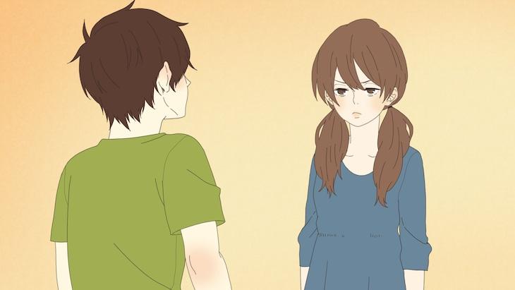 アニメ「ほのぼのログ」より、第6話「機嫌悪い?」のワンシーン。(c)深町なか・一迅社/NHK