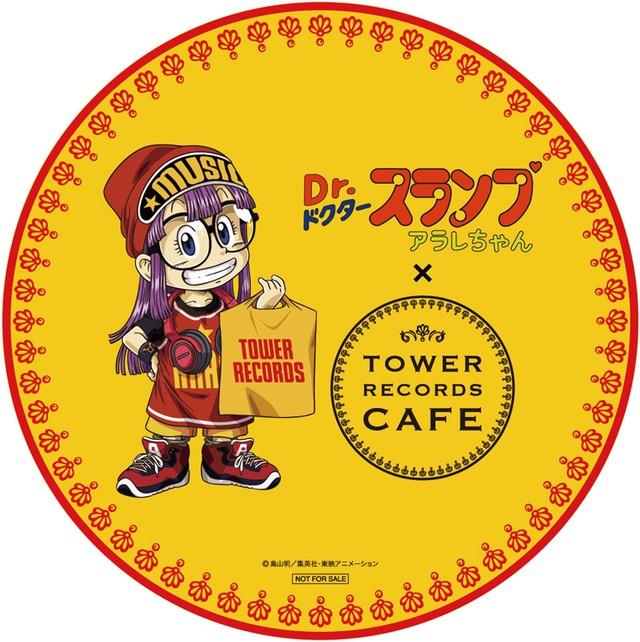 「Dr.スランプ アラレちゃん × TOWER RECORDS CAFE 表参道店」コラボコースター