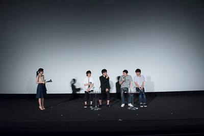 (左から)司会の松澤千晶、伊藤節生、櫻井孝宏、ONE、立川譲。