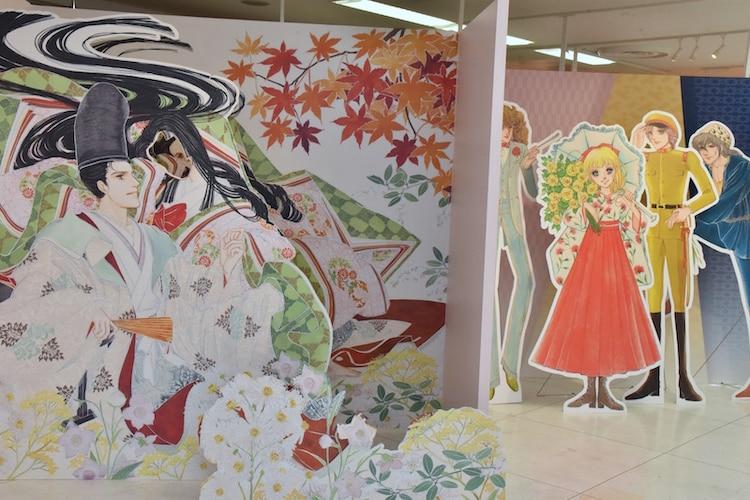 「大和和紀画業50周年記念原画展 in 東武百貨店池袋店」のフォトスポット。