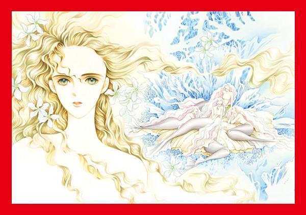 清水玲子「月の子」のサイン入り高級複製原画。