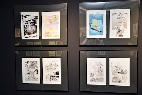 「GUNDAM PRODUCT ART 機動戦士ガンダム THE ORIGIN展」の様子。
