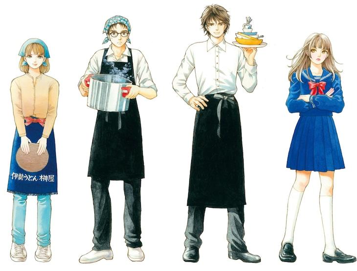 松苗あけみが手がけた「エスカルゴ兄弟」のイメージキャラクター。