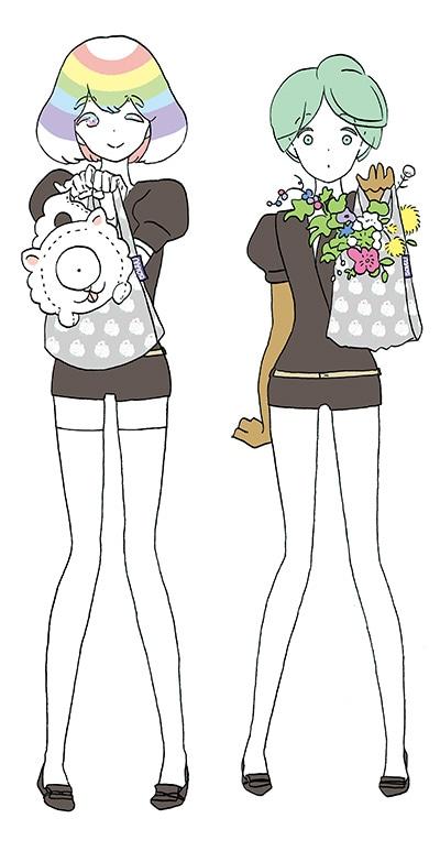 市川春子の描き下ろしイラスト。