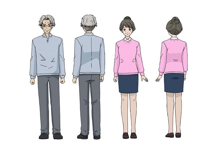 アニメ「斉木楠雄のΨ難」より、斉木熊五郎と斉木久美。