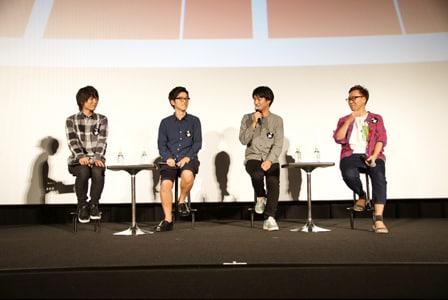 左から伊藤節生、櫻井孝宏、立川譲監督、亀田祥倫。