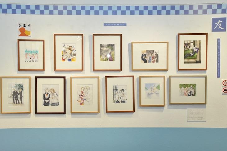 「夏目友人帳 大原画展 ~原作漫画からアニメーションまで~」の様子。