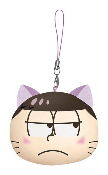「ネコ松さん顔型ぬいぐるみストラップ」