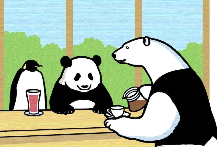 「しろくまカフェ today's special」のカット。(c)ヒガアロハ/集英社