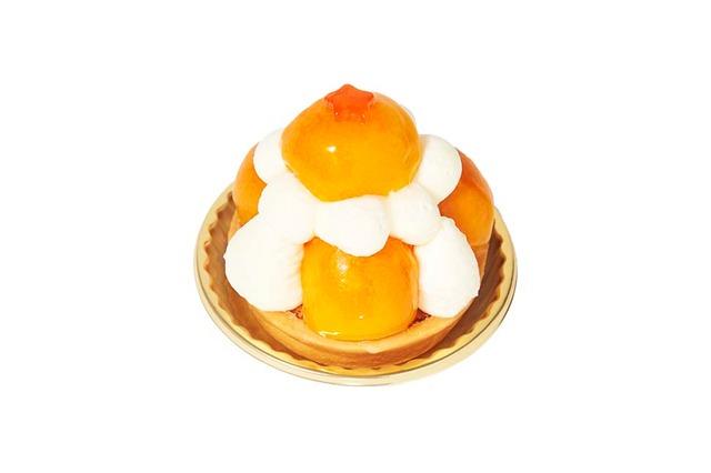 京橋千疋屋(グランスタ)で提供される「金柑のドラゴンボールタルト」。