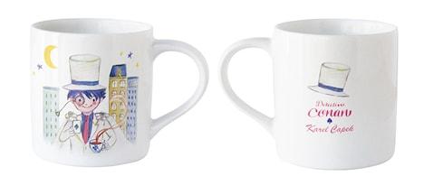 「名探偵コナン」と、紅茶の専門店「カレルチャペック」のコラボによるティーマグ。