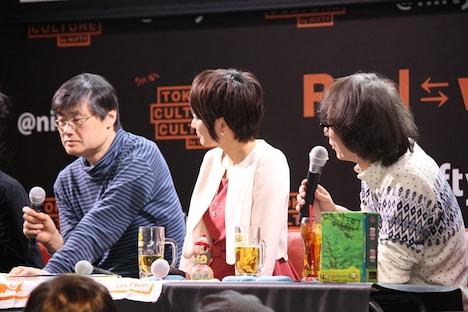 左から横見浩彦、村井美樹、江上英樹氏。