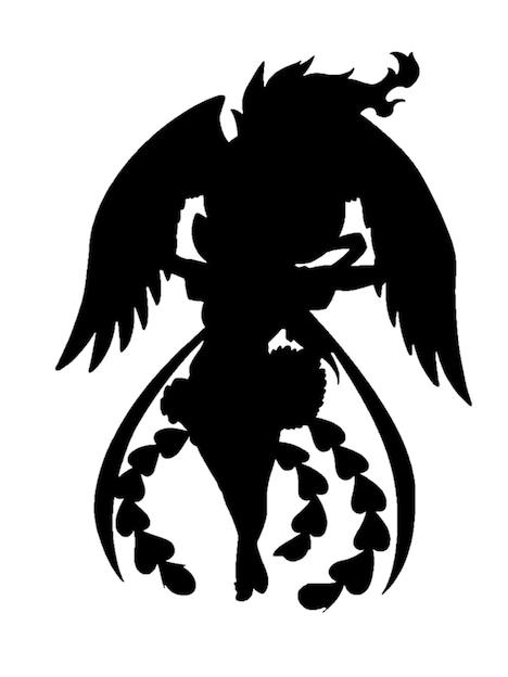 吉崎観音が描いた「火の鳥」オマージュイラストのシルエット。