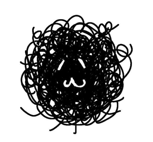 カレー沢薫の自画像。