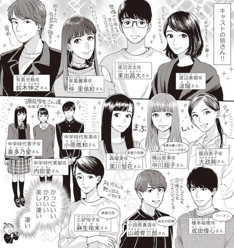 染谷みのる「ドラマ『あなたのことはそれほど』顔合わせ・本読みレポ漫画」より。