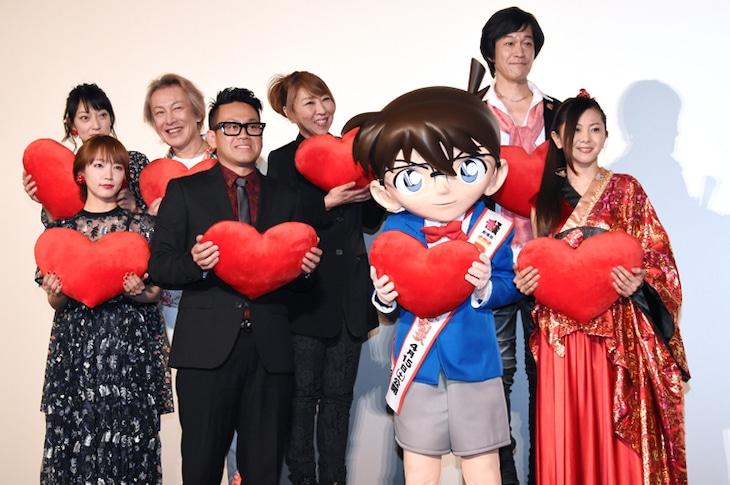 劇場版「名探偵コナン から紅の恋歌(からくれないのラブレター)」の初日舞台挨拶の様子。
