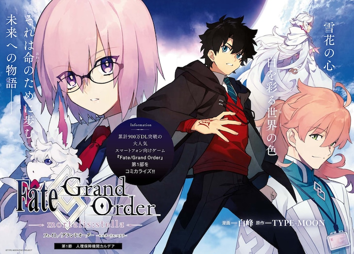 「Fate/Grand Order -mortalis:stella-」扉ページ。(c)TYPE-MOON / FGO PROJECT