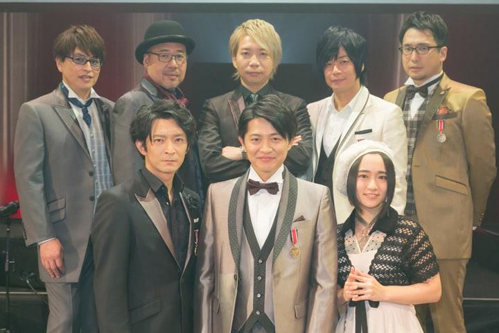 上段左から緑川光、大川透、諏訪部順一、遊佐浩二、安元洋貴。下段左から津田健次郎、下野紘、悠木碧。