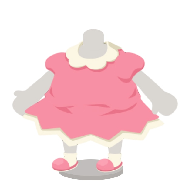 ショルダーコスプレ衣装のワンピース。