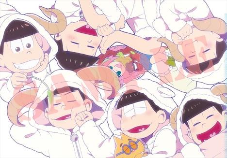 特別付録のテレビアニメ「おそ松さん」公式描き下ろしクリアファイル。(c)赤塚不二夫/おそ松さん製作委員会