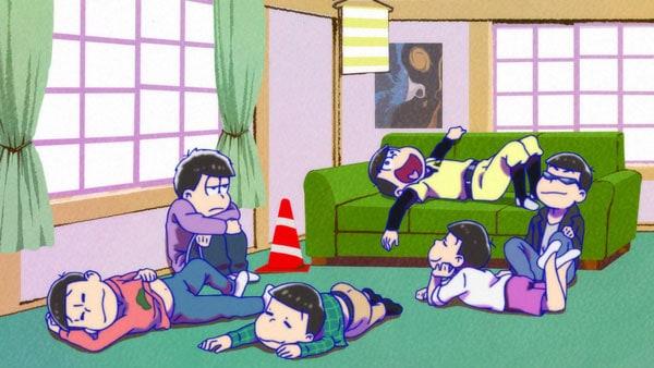 テレビアニメ「おそ松さん」第2期の場面カット。
