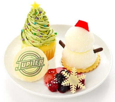 11月23日から12月25日までの期間限定で提供される「Merry Christmas☆最強ユニットJupiterのクリスマスプレート」。