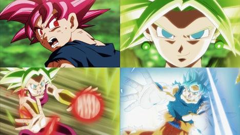 「悟空 VS ケフラ!超サイヤ人ブルー敗れる!?」の場面写真。