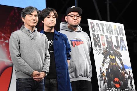 左から中島かずき、水崎淳平、岡崎能士。