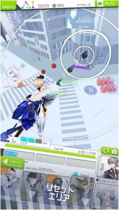 「レイヤードストーリーズ ゼロ」のゲーム画面。