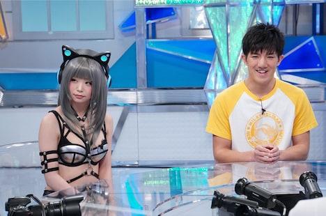 「ナカイの窓」のワンシーン。左から五木あきら、井上浩樹。(c)日本テレビ