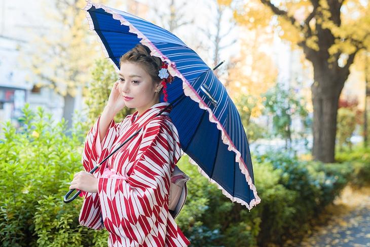 乱藤四郎モデル着用例。