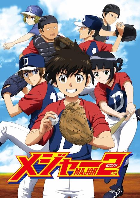 アニメ「メジャーセカンド」キービジュアル。