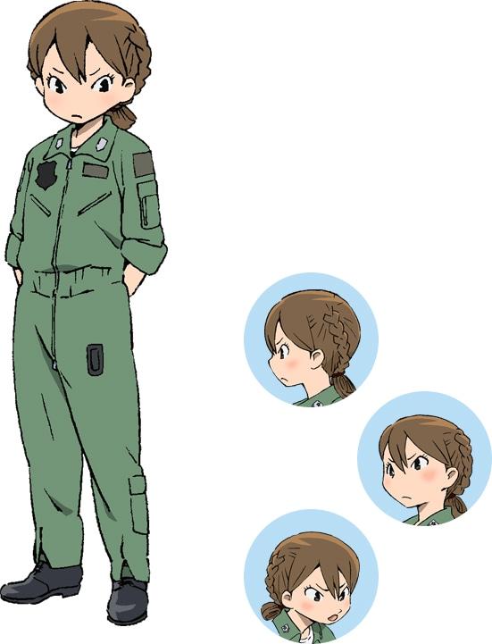 貝崎名緒(CV:黒沢ともよ)のキャラクタービジュアル。