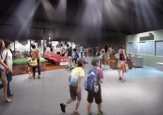 企画展示ゾーンの「聞き込みエリア」のイメージ。