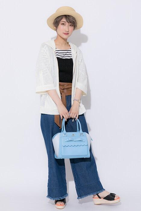 「ツキウタ。THE ANIMATION」をモチーフにしたファッションアイテムの着用例。