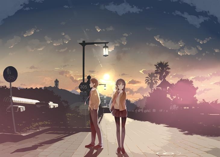 「青春ブタ野郎はバニーガール先輩の夢を見ない」原作イラスト・溝口ケージによる描き下ろしビジュアル。